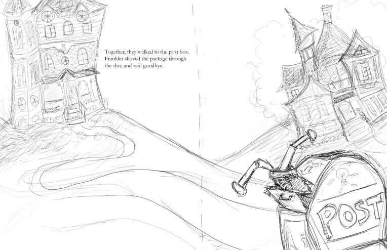 A sample of some sketch work that's for me, all me. (A book idea.)