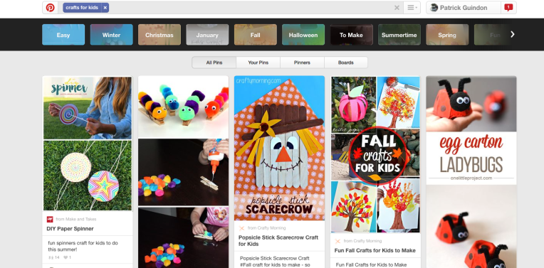 A quick Pinterest search for Crafts for Kids reveals uncreative, cookie-cutter projects. Shocking.